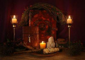 Altar de hechizos para el estres
