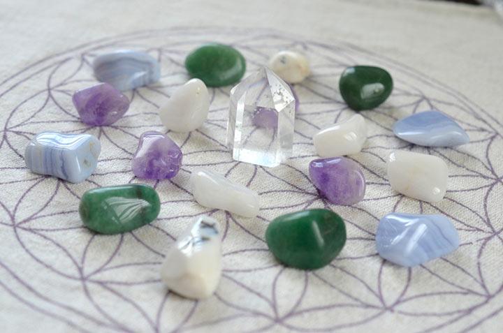 Cuadrícula de Cristales