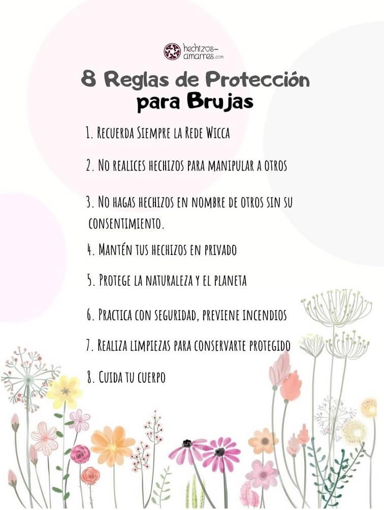 8 Reglas de Protección para Brujas