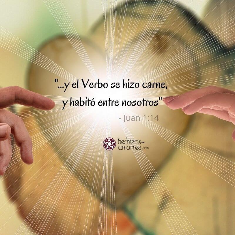 """""""Y el Verbo se hizo carne y habitó entre nosotros"""" Juan 1:14"""