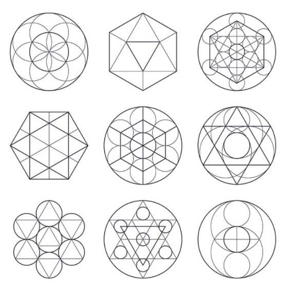 Coloca tus cristales en el patrón geométrico: Grilla de cristales